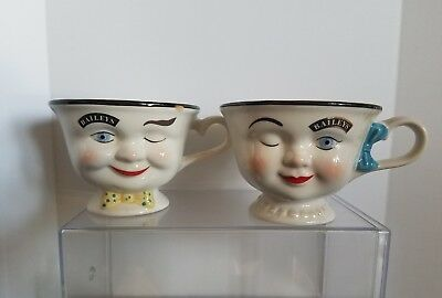 2 Baileys Irish Cream Yum His & Hers Mr. & Mrs. Coffee Tea Cup Set