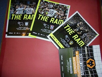 2018/19 Derby County Home Programmes Choose From