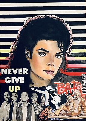 Michael Jackson  Art , Acrilic On Canvas , BAD