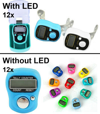 Digits LED Muslim Tally Counter Finger Ring Hand Tally Counter Digital Timers
