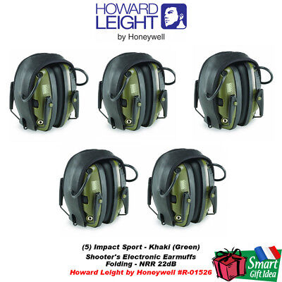 Howard Leight (Box of 5) Impact Sport Electronic Hearing Protection #R-01526_5
