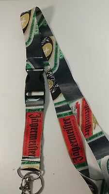 Jagermeister Lanyard with Detachable Clip - Keychain Ring ID Badge Holder Promo
