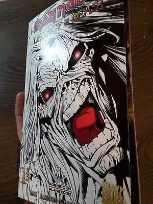 Iron Maiden Legacy of the beast Comic #1 limited 666pcs. signed numbered NEW rar
