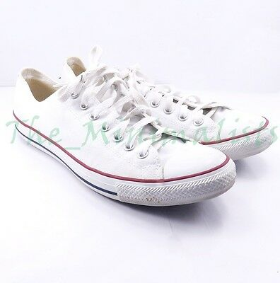 Converse Low Laceup classic White Canvas shoes sneakers Mens 11  Womens 13 M7652