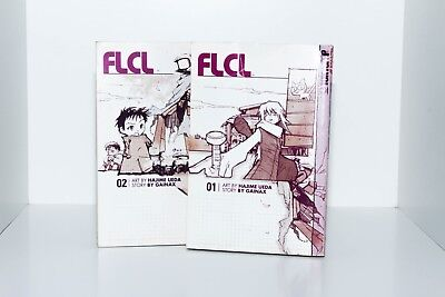 FLCL Fooly Cooly Volume 1 and 2 by Hajime Ueda