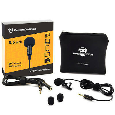 PowerDeWise Grade Lavalier Lapel Microphone, Perfect for Recording Youtube 3.5