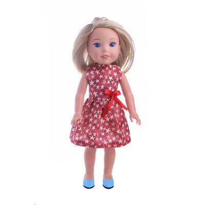 Sleeveless Frock Skirt Dress for American Girl 14inch Dolls Clothes Dress up