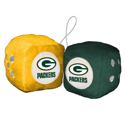 FREMONT DIE Inc Green Bay Packers Fuzzy Dice Fuzzy Dice