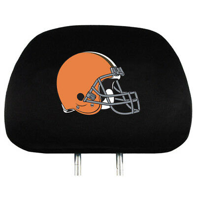 Team Promark Cleveland Browns Headrest Covers Set Of 2 Headrest Covers