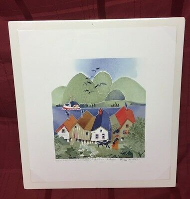 """2006 Hand-Signed Limited Edition """"VIEW FROM MY WINDOW"""" Alaskan Artist Rie Munoz"""