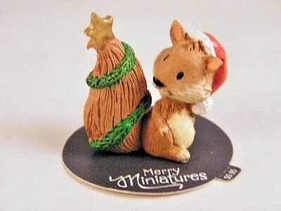 Christmas Hallmark Merry Miniatures Squirrel with Tail Decorated