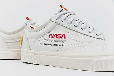 3c4be7bc352547 NASA x Vans Old Skool Space Voyager True White Authentic VN0A38G1UP9