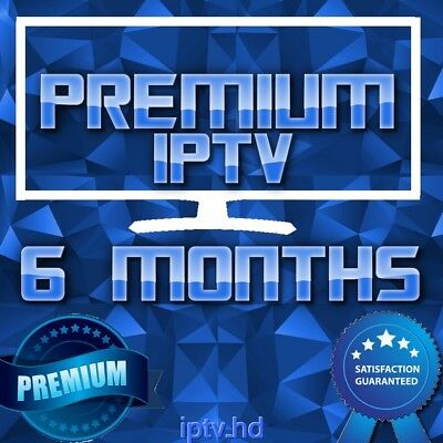 """IPTV SUBSCRIPTION"" 6 Months Premium IPTV for +20000 CH&VOD with full Support"