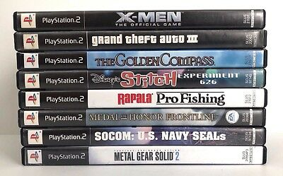 Sony Playstation 2 PS2 Lot of (8) Games Tested