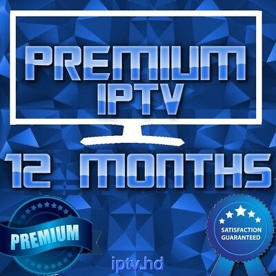 """IPTV SUBSCRIPTION"" 12 Months Premium IPTV for +20000 CH&VOD with full Support"