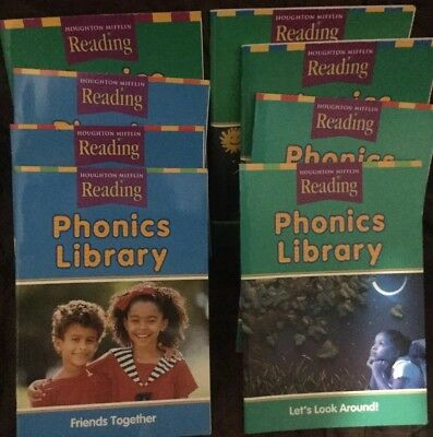 LOT 8 HOUGHTON Mifflin Reading Phonics Library Books Level K 1 Beginning Read