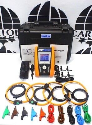 HT Instruments PQA824 Power quality analyzer with voltage spikes PQA 824