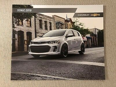 2019 CHEVY SONIC 20-page Original Sales Brochure