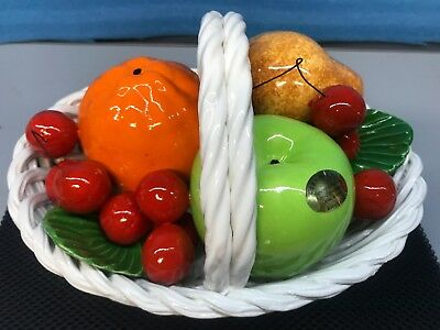 Vintage DI Bassano Hand Painted Fruit Basket Centerpiece . Made In Italy. New!