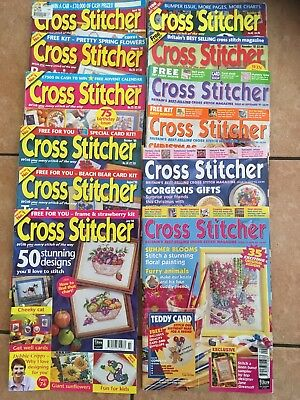Group of various Cross Stitcher Magazines