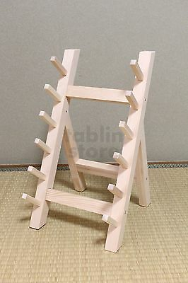 Japanese wooden knife stand display holder for six knives