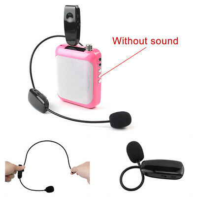 UHF Stage Wireless Lavalier Lapel Headset Microphone System FM Transmitter AU
