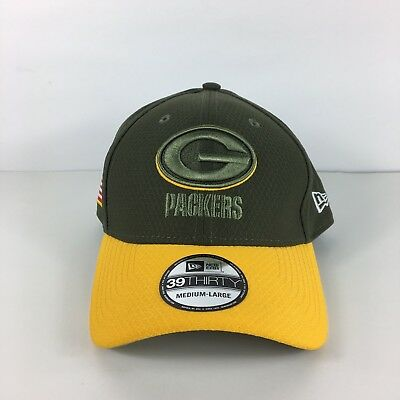 huge selection of 81c63 4254e Green Bay Packers New Era 39Thirty NFL Salute To Service M L Flexfitted Cap  Hat