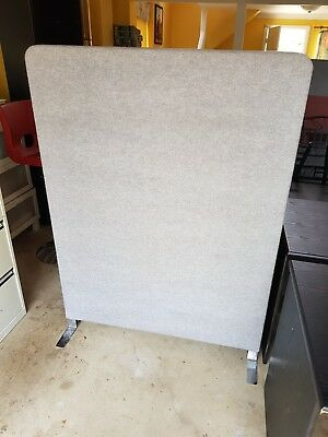 Office Partitions/Room Dividers 2xSizes Grey and Pink Material