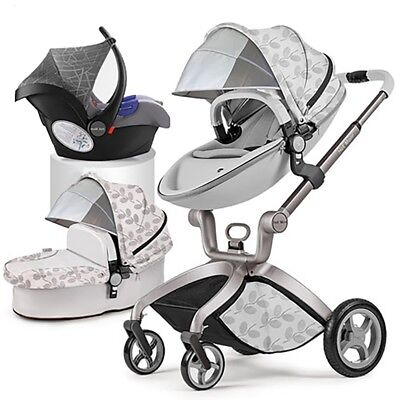 5e374cb84f20 2019 HOT MOM 3 in 1 Baby Stroller travel Bassinet high view Pushchair&car  seat