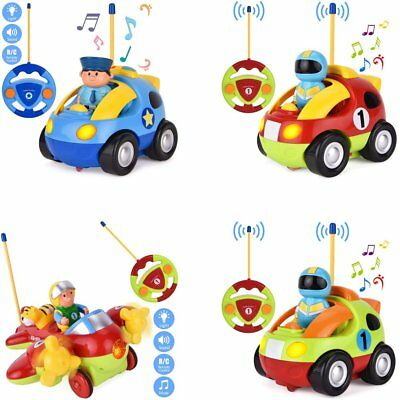 Withpal Cartoon Remote Control Car Radio Racing Car Present for Kids Toddlers US