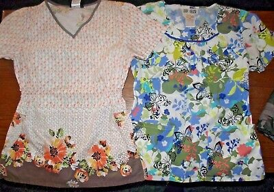 Womens Lot Of 2 Scrub Tops Size Xs By Cherokee And Body