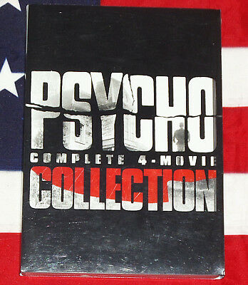Psycho 1 2 3 4 DVD Box Set Horror Movie Collection Complete I II III IV RARE