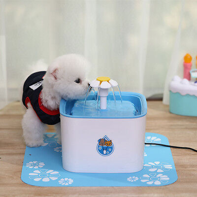 2.5L Plastic Automatic Cycle Electric Pet Puppy Water Fountain Dog Drinking Bowl
