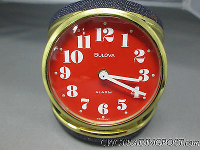 Vintage Bulova Travel Alarm Clock