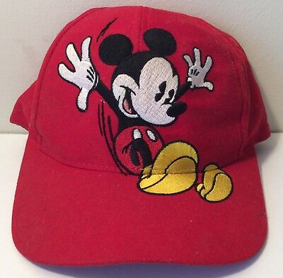 pretty nice d8d49 90e30 ... italy vintage mickey mouse stitched big logo mens snapback cap hat  disney store e1d03 12c94