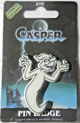 RARE '95 Casper the Friendly Ghost STINKIE Pin by Dufort & Sons made in the UK