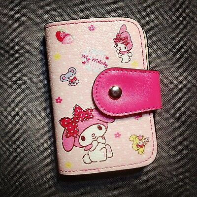 Cute Pink My Melody PU Leather Bank Card Credit Cards Holder Case Bag