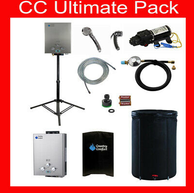 Country Comfort Portable Lpg Gas Hot Water Off Grid Carravvan Camping Pack
