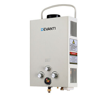Devanti Gas Hot Water Heater Portable Shower Camping LPG Outdoor Instant 4WD
