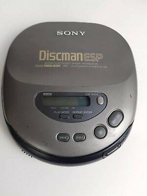 Sony Discman ESP D-345 Personal CD Player **PARTS ONLY** NOT WORKING