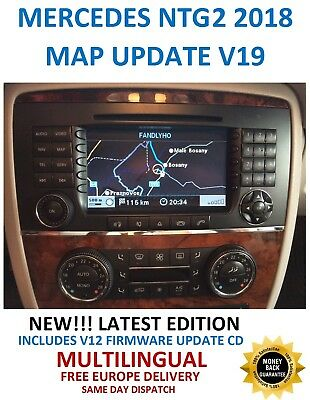 Mercedes NTG2 2018 Comand APS Map DVD Europe v19 With software Updates