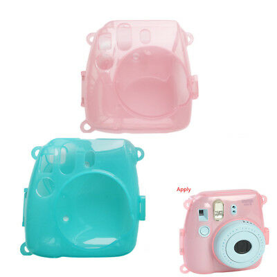 Crystal Clear Hard Case Cover Shell Bag For Fujifilm Instax Mini8/9 Film Camera