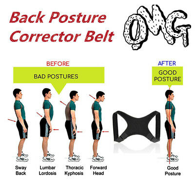 Posture Corrector Fracture Support Back Shoulder Correction Brace Belt Strap R5#