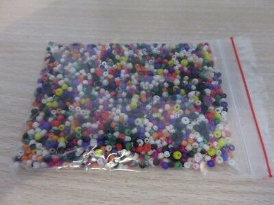 2-3mm  Glass Seed Beads - Mixed A aprox 1,700 pcs (50g) FREE POSTAGE- AUS SELLER