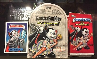 Garbage Pail Kids The Horror-ible Complete 200 Card Set & Blaster Box + Wrappers