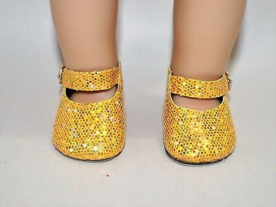 American Girl Dolls Clothes Our Generation 18 Doll Clothes Gold Glitter Shoes