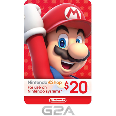 $20 Nintendo eShop Gift Card - 20 USD Nintendo Switch/3DS/WiiU Digital Key [US]