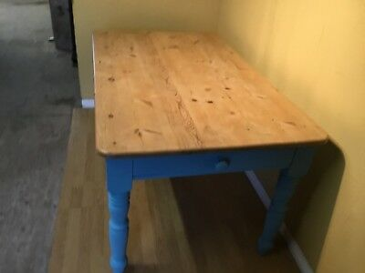 victorian style pine farmhouse kitchen table width drawer
