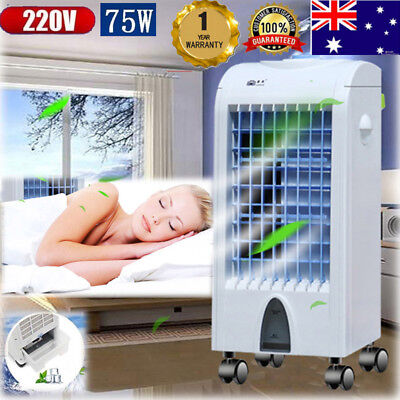 Portable Mobile Air Conditioner Fan Air Cooler Cooling Humidifier Evaporative AU