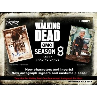 Topps Walking Dead trading cards Season 8 part 1 90 card Full Base Set